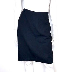 Yumi Mazao black wool slit pencil skirt